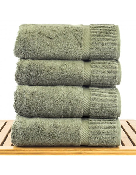 Absorbent & Durable Bath Towel Sets Wholesale - Moss - Set of 4, Bath Towels