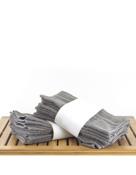 Absorbent & Durable Economical Washcloths - Gray - Set of 60, Washcloths