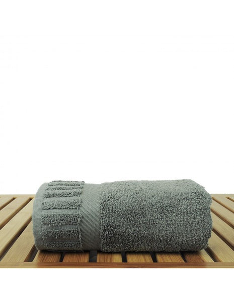 Absorbent & Durable Hand Towel Sets Wholesale - Gray - Set of 6
