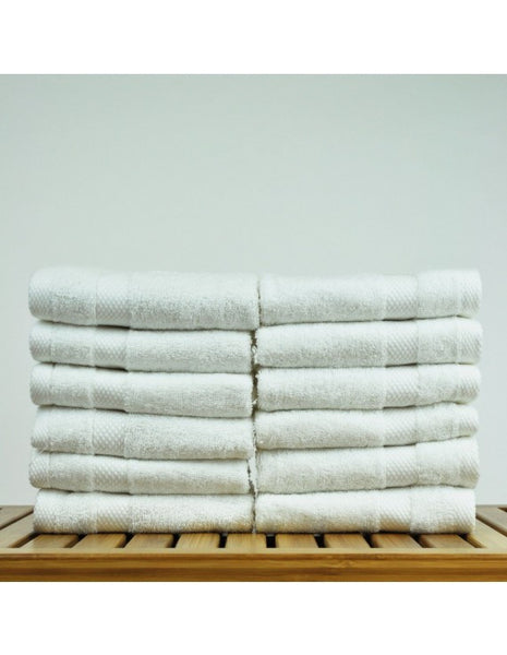 Baby Wascloth 5-Star Hotel/Resort Quality - White - Set of 12, Bath Towels
