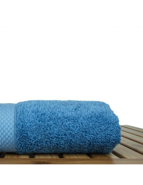 Bamboo Blended Turkish Cotton Hand Towels - Wedgwood Blue - Set of 6, Hand Towels