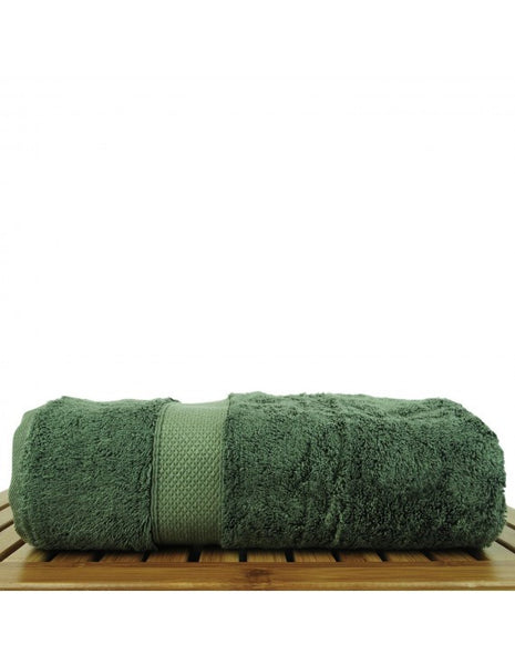 Bamboo Luxury Bath Towels Wholesale - Moss - Set of 4