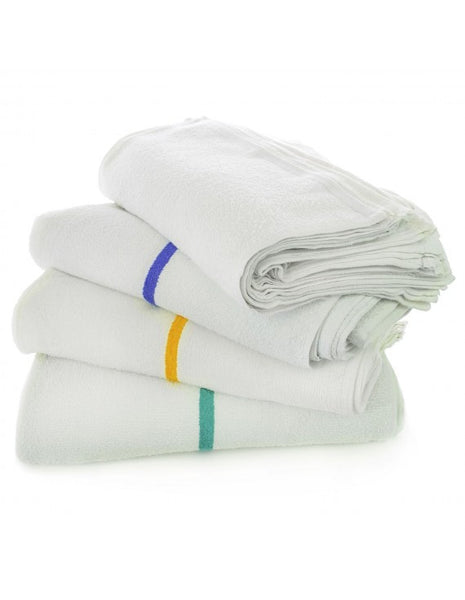 Bar Mop Towels Wholesale Terry Fabric - Green - Set of 24, Kitchen Towels