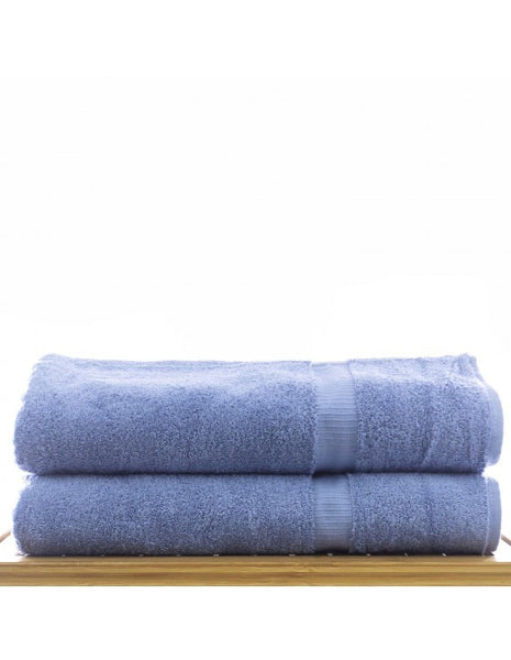 Bath Sheet Towels Ultra Plush 100% Cotton - Wedgwood Blue - Set of 2, Bath Towels