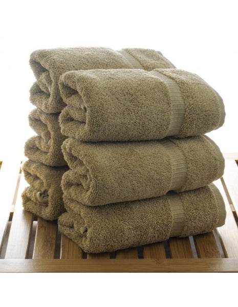 Bathroom Essentials Turkish Cotton Hand Towels - Drift Wood - Set of 6, Hand Towels