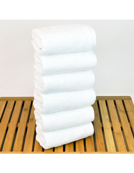 Bathroom Hand Towels Wholesale 100% Turkish Cotton - White - Set of 6, Hand Towels