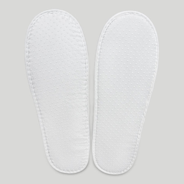 Closed Toe Terry Velour Wholesale Spa Slippers - Beige