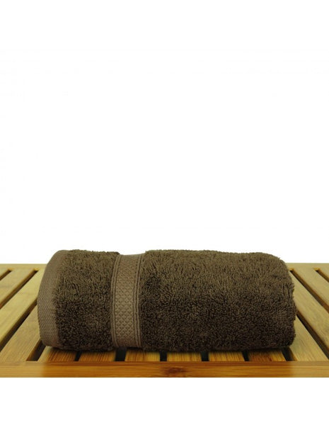 Best Hotel/Spa Cotton & Bamboo Hand Towels - Cocoa - Set of 6, Hand Towels