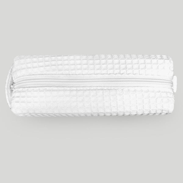 Cheap Waffle Weave White Makeup Bag For Women Wholesale