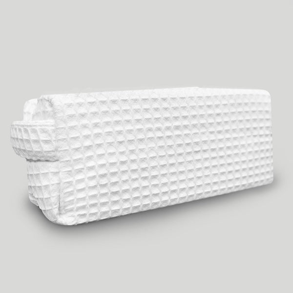 Cheap Waffle Weave White Makeup Bag For Women Wholesale, Waffle Makeup Bags