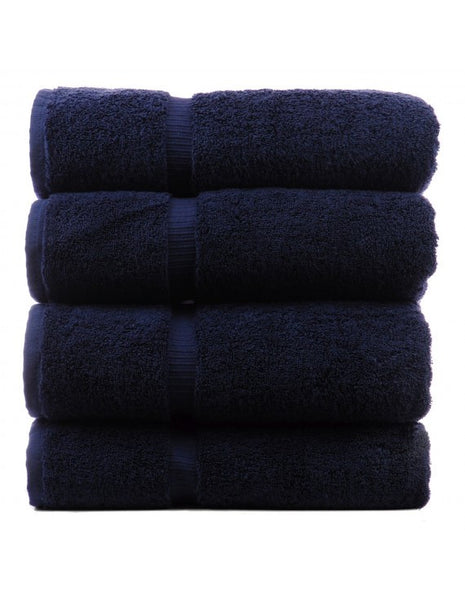 Classic Turkish Large Towels for Bath - Navy Blue - Set of 4, Bath Towels