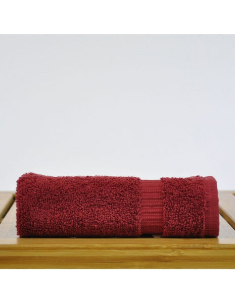 Comfort Bath Body Wash Cloths in Bulk - Cranberry - Set of 12, Bath Towels