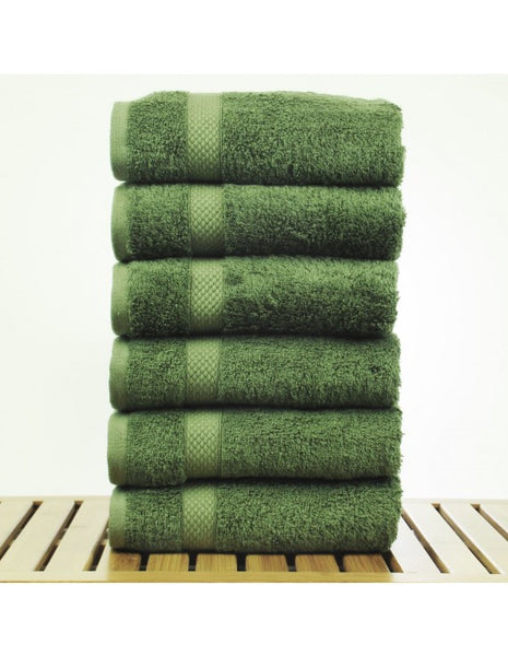 Fast Dry Authentic Turkish Hand Towel - Moss - Set of 6, Hand Towels