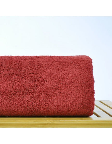 Fast Dry Hotel/Spa Turkish Cotton Oversized Bath Sheets - Cranberry, Bath Towels