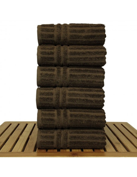 Guest Hand Towels in Bulk - Cocoa - Set of 6, Hand Towels