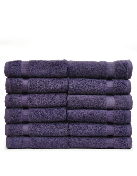 High Quality Washcloths for Knitting - Plum - Set of 12, Bath Towels