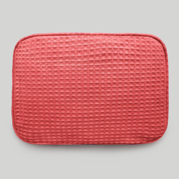Highly Durable Multipurpose Coral Waffle Weave Makeup Bag For Women