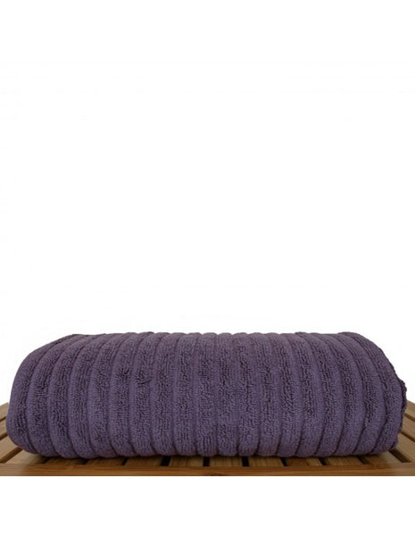 Home Spa Ribbed Towels Wholesale - Plum - Set of 4, Bath Towels