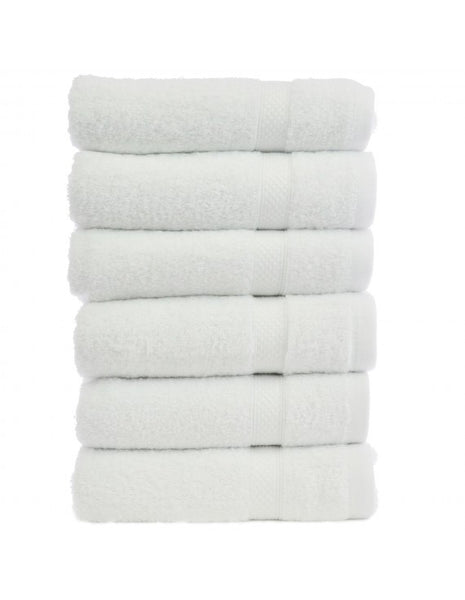 Hotel Collection Bamboo Turkish Hand Towels - White - Set of 6, Hand Towels