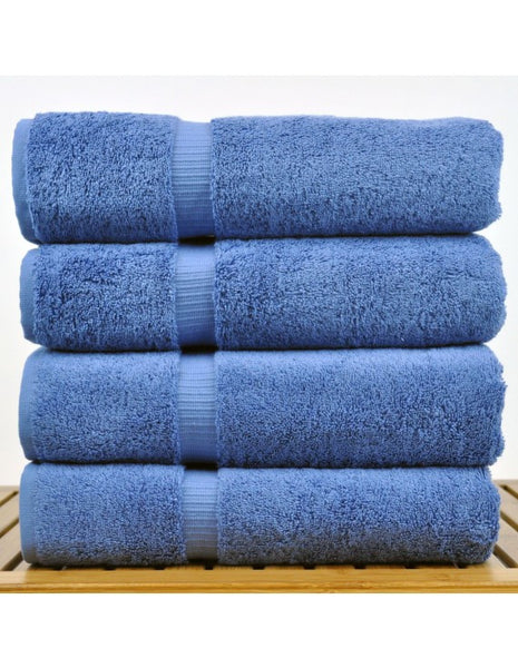 Hotel Collection Bath Towels Finest Luxury Sets - Wedgwood Blue - Set of 4, Bath Towels