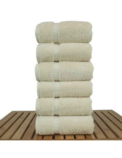 Hotel Collection Cotton Kitchen Decorative Hand Towels - Cream - Set of 6, Hand Towels