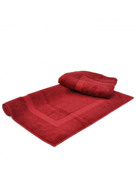 Hotel/Spa Collection Bath Mats Finest Luxury Sets - Cranberry - Set of 2