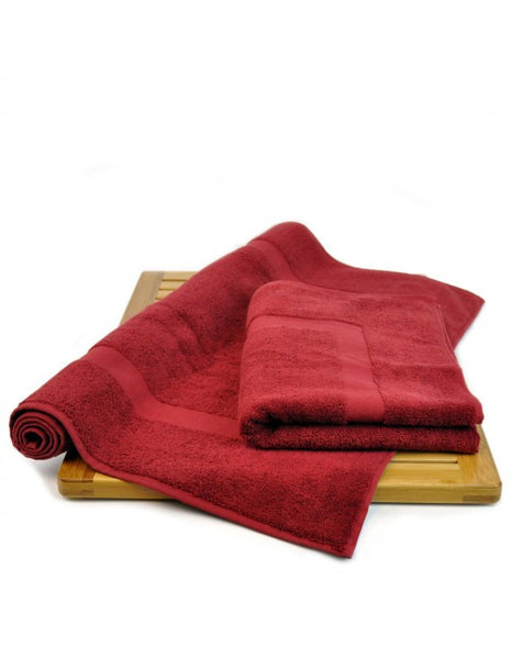 Hotel/Spa Collection Bath Mats Finest Luxury Sets - Cranberry - Set of 2, Bath Mats