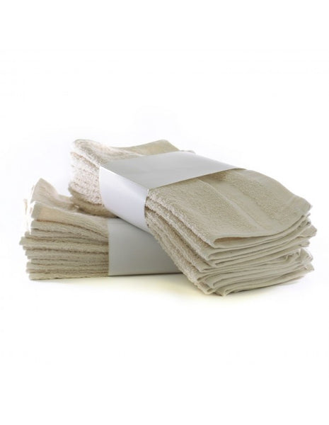 Hotel Spa Washcloths in Bulk Inexpensive - Beige - Set of 24, Washcloths