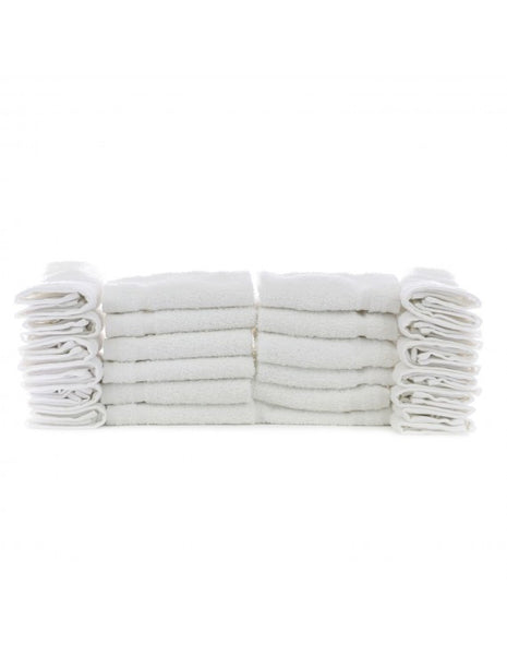 Wholesale Discount Hotel Spa Washcloths - White - Set of 60, Bath Towels