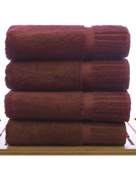 Large Size High Quality Resort Bath Towels - Cranberry - Set of 4, Bath Towels