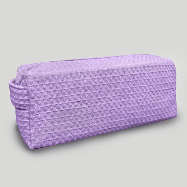 Lavender Stylish Multipurpose Waffle Weave Makeup Bag Small, Waffle Makeup Bags