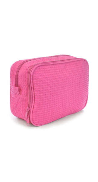 Lightweight and Stylish Waffle Weaved Make Up Bags
