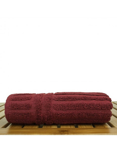 Luxury Hand Towels 100% Genuine Turkish Cotton - Cranberry - Set of 6, Hand Towels