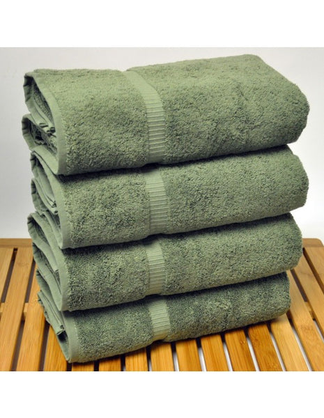 Microfiber Super Soft Cotton Bath Towel - Moss - Set of 4, Bath Towels