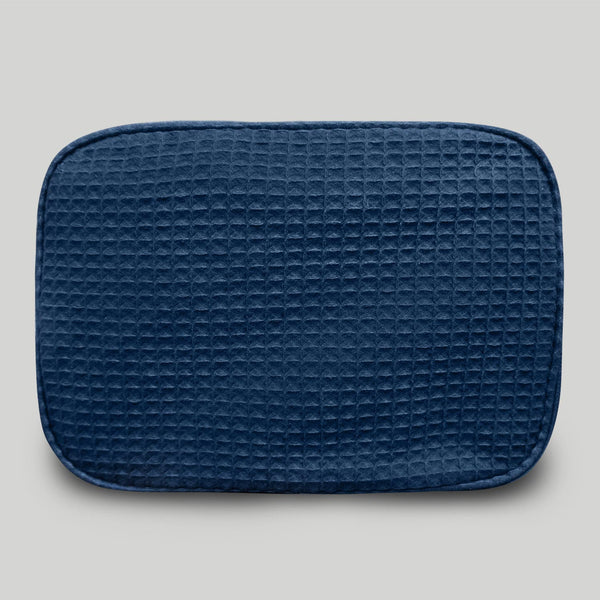 Navy Blue Waffle Designed Multi Purpose Make Up Bag, Waffle Makeup Bags
