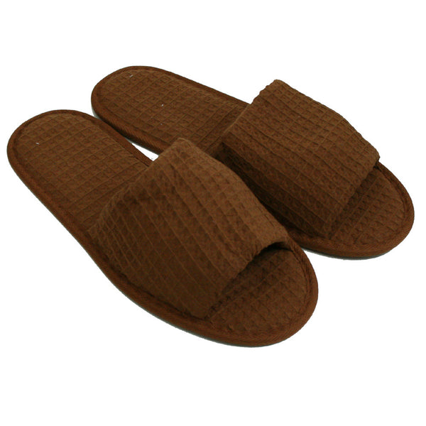 Open Toe Cheap Shower Gym House Slippers, Waffle Weave Spa Slippers, Personalized  Wholesale, Slippers