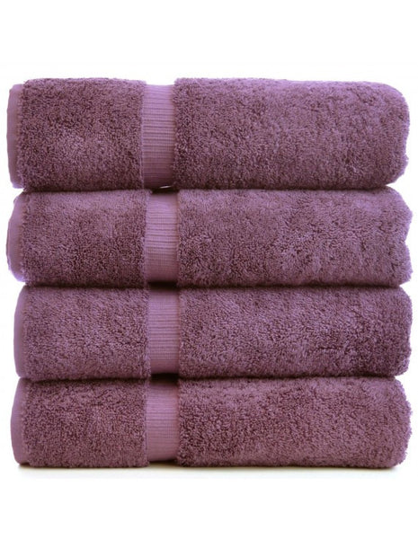 Quick Dry Lasting Color Bath Towels - Plum - Set of 4, Bath Towels
