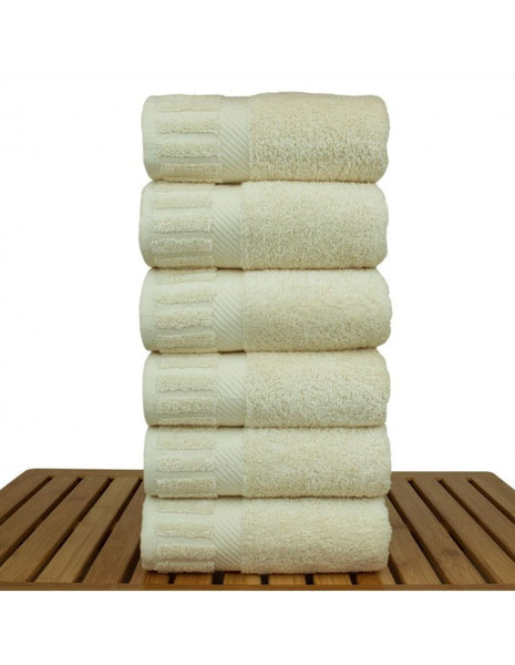 Softest Turkish Cotton Hand Towels - Beige - Set of 6, Hand Towels