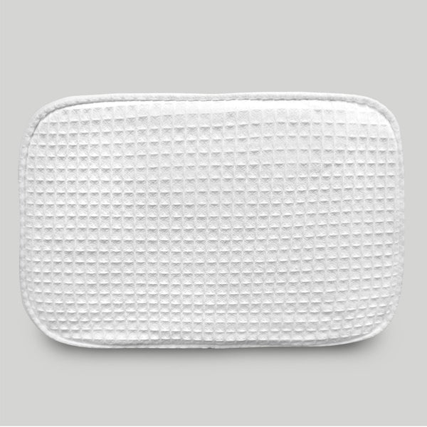 Stylish Cheap Durable White Waffle Designed Make Up Bag For Women