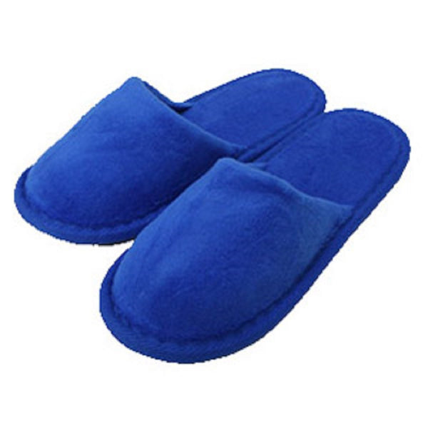 Stylish Royal Blue Kids Closed Toe Terry Cotton Spa Slippers