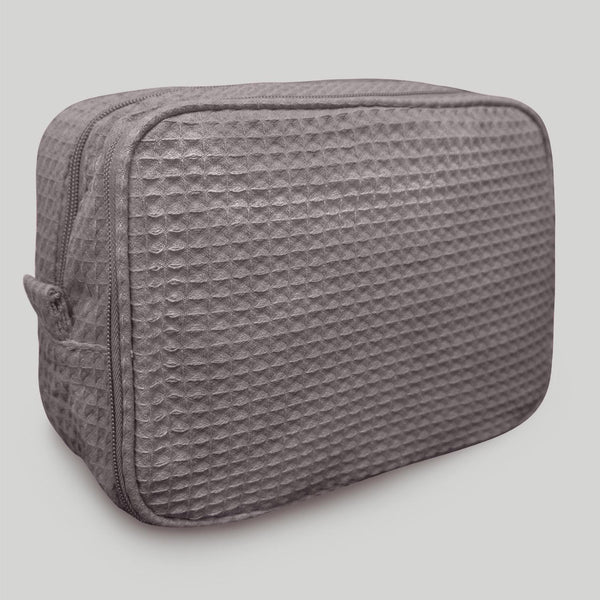 Stylish Waffle Designed Multipurpose Gray MakeUp Bag Wholesale, Waffle Makeup Bags