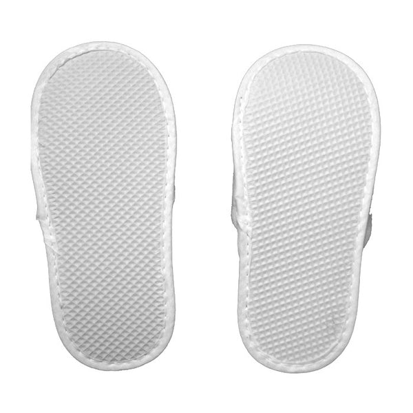 Stylish White Terry Cotton Open Toe Kids Spa Slippers Wholesale, Slippers