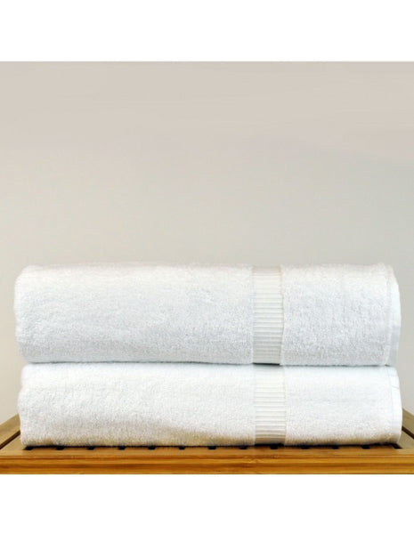 Turkish Bath Sheets Towel in 5-Star Hotel/Spa Quality - White - Set of 2, Bath Towels
