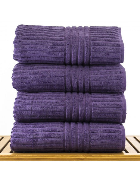 Turkish Spa Bath Towel Sets - Plum - Set of 4, Bath Towels