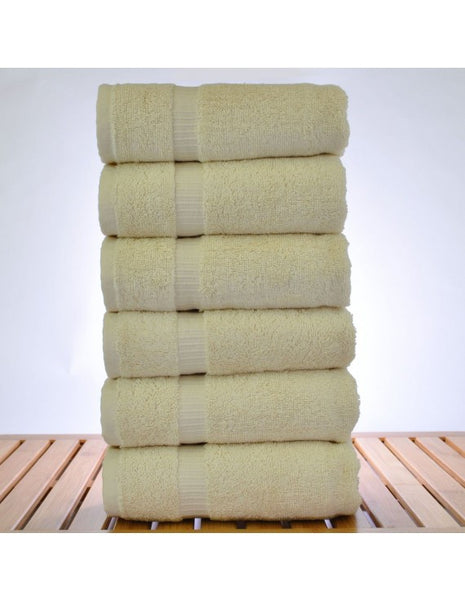Ultimate Performance Luxury Hand Towels - Beige - Set of 6, Hand Towels