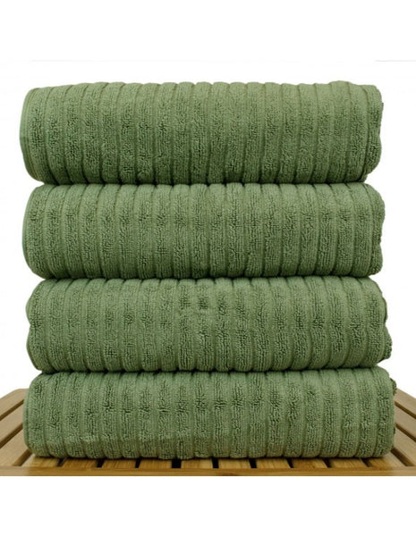 Ultra-Luxe Cotton Spa Resort Bath Towel - Moss - Set of 4, Bath Towels