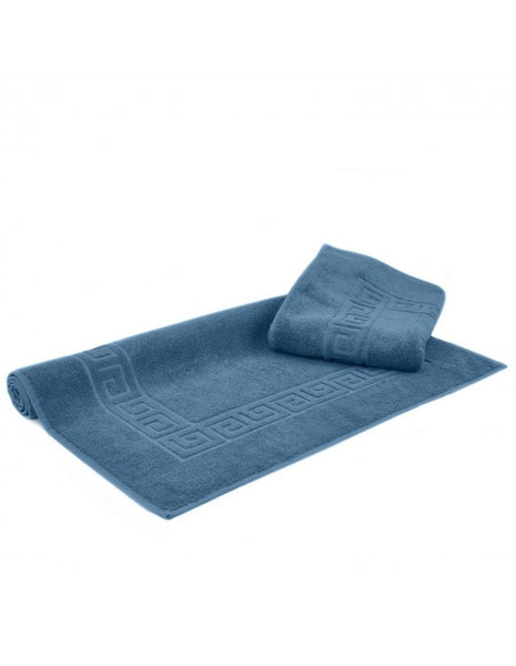 Ultra Plush 100% Cotton Luxury Large Bath Mats - Wedgwood Blue - Set of 2, Bath Mats
