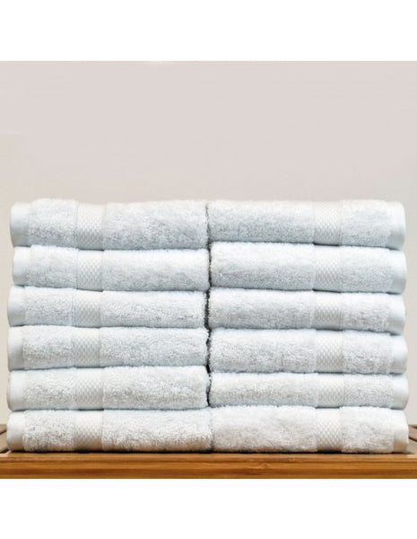 Wedding Washcloths for Bridal Shower - White - Set of 12, Bath Towels