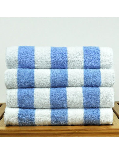 Wholesale Beach Towels 100% Turkish Cotton - Light Blue, Beach Towels