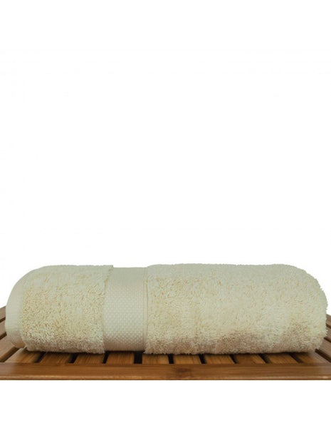Bamboo Blended Turkish Cotton Hotel/Spa Towel - Beige - Set of 4, Bath Towels